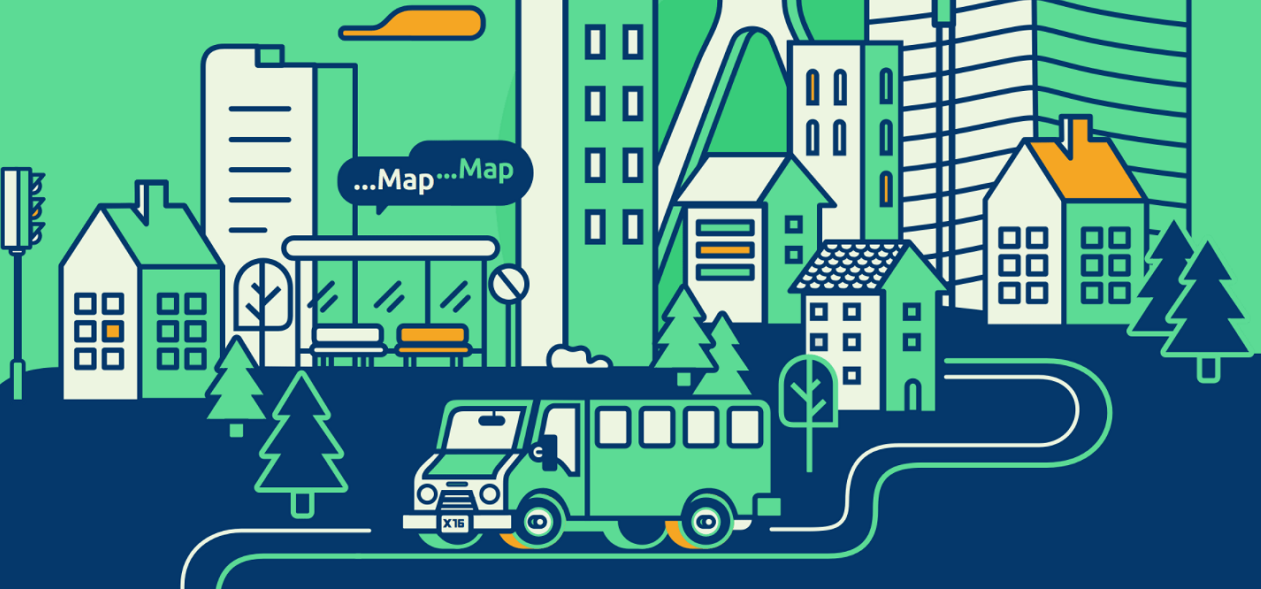 Mapping public transport routes with MapMap